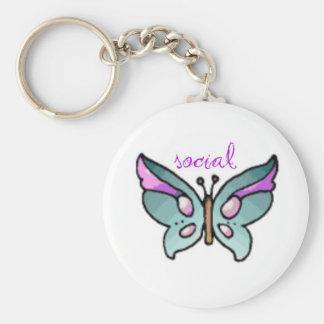 mariposa social llavero