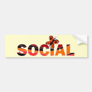 Mariposa social pegatina para auto