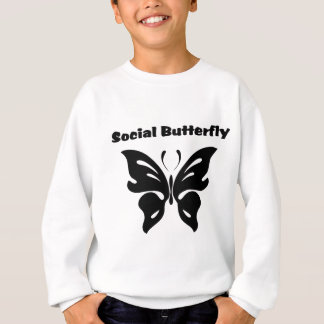 Mariposa social remeras