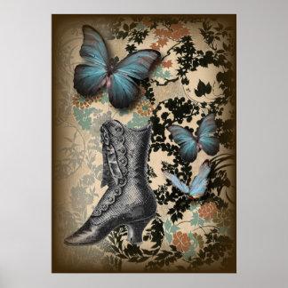 Mariposa sofisticada del zapato del cordón de Parí Impresiones
