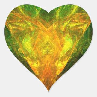 Mariposa solar pegatina en forma de corazón