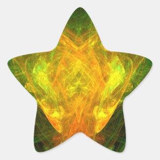 Mariposa solar pegatina en forma de estrella