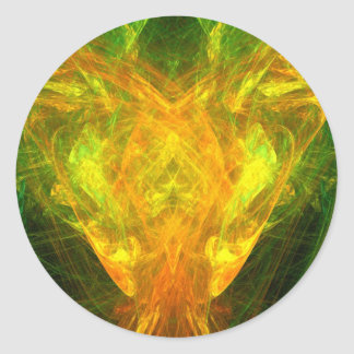 Mariposa solar pegatina redonda