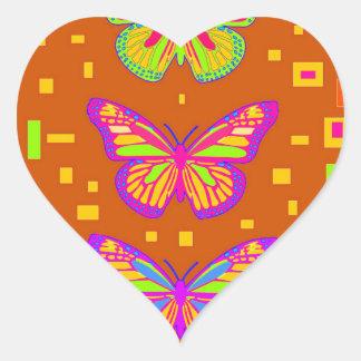 Mariposa Southwest Orage Gifts by Sharles Heart Sticker