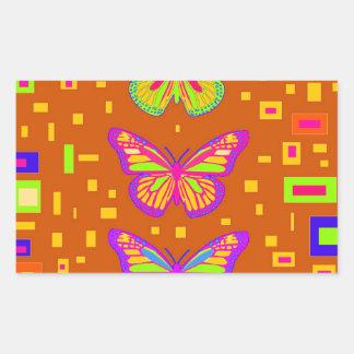 Mariposa Southwest Orage Gifts by Sharles Rectangular Sticker
