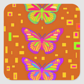 Mariposa Southwest Orage Gifts by Sharles Square Sticker
