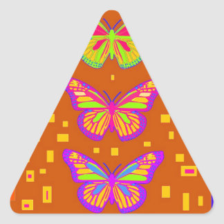 Mariposa Southwest Orage Gifts by Sharles Triangle Sticker