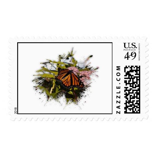 Mariposa Splat Estampillas