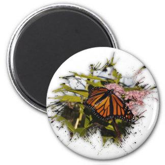 Mariposa Splat Imán Redondo 5 Cm