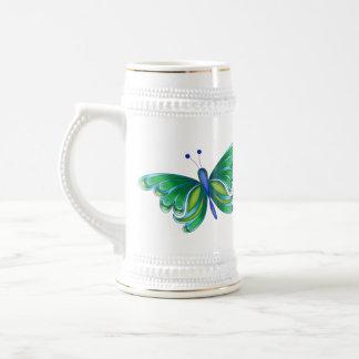 Mariposa Stein de cerámica de Plutón Jarra De Cerveza