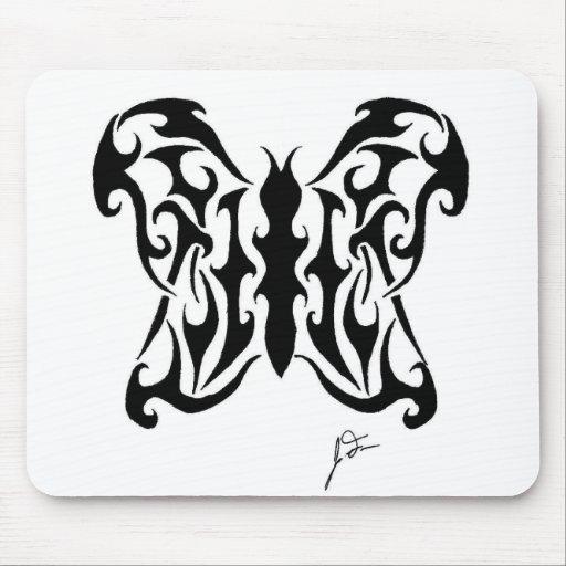 Mariposa suave alfombrilla de ratones