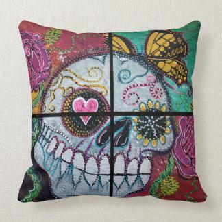 Mariposa Sugar Skull Throw Pillow