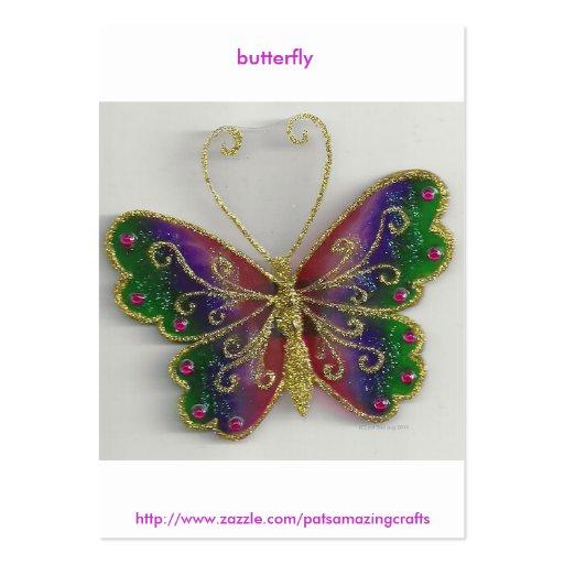 mariposa tarjetas de visita
