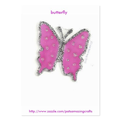 mariposa tarjetas de visita grandes