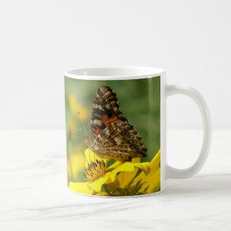 Mariposa, taza taza básica blanca