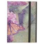 Mariposa texturizada con las lilas