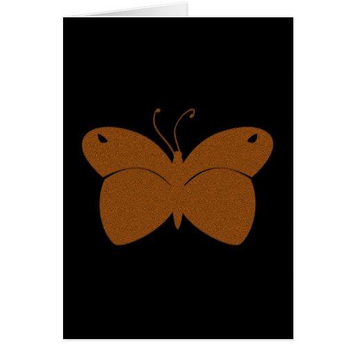Mariposa texturizada naranja tarjeta de felicitación