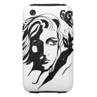 Mariposa Tough iPhone 3 Protectores