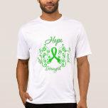 Mariposa traumática del lema de la esperanza de la camiseta