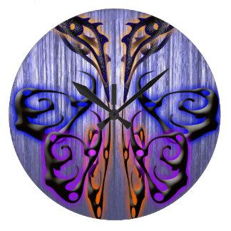 Mariposa traviesa: reloj redondo grande