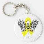Mariposa tribal del cáncer del sarcoma llavero