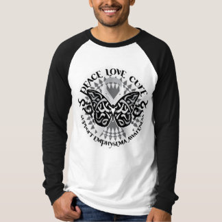 Mariposa tribal del enfisema camisas