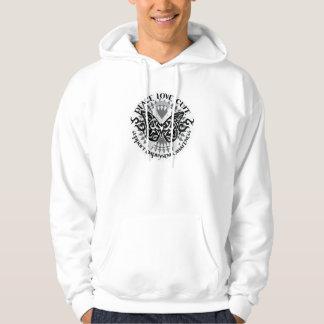 Mariposa tribal del enfisema sudadera con capucha