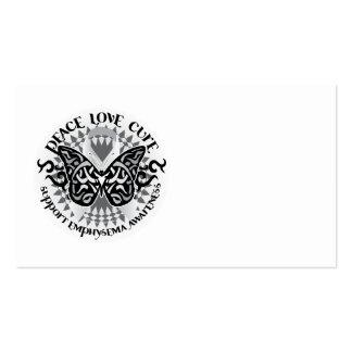 Mariposa tribal del enfisema tarjetas de visita