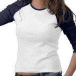 Mariposa tribal del guerrero del cáncer de estómag camisetas