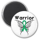 Mariposa tribal del guerrero del cáncer de hígado imán de nevera