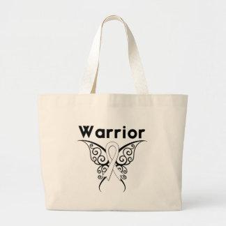Mariposa tribal del guerrero del cáncer de hueso bolsa tela grande
