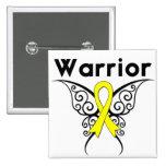 Mariposa tribal del guerrero del cáncer del sarcom pins