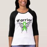 Mariposa tribal del guerrero del linfoma camisetas