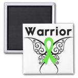 Mariposa tribal del guerrero del linfoma iman para frigorífico