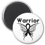 Mariposa tribal del guerrero del melanoma iman de frigorífico