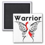 Mariposa tribal del guerrero oral del cáncer imán para frigorifico