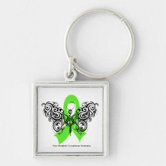 Mariposa tribal del linfoma Non-Hodgkin Llaveros