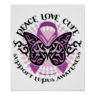 Mariposa tribal del lupus póster