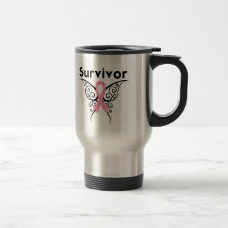 Mariposa tribal del superviviente del cáncer de pe taza de café