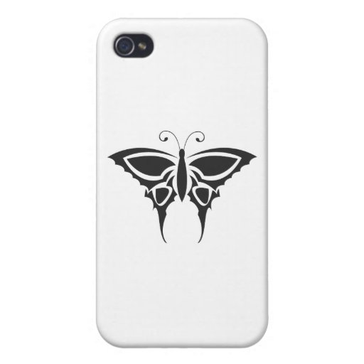 Mariposa tribal iPhone 4 carcasas