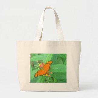 Mariposa tropical anaranjada de Julia Bolsas