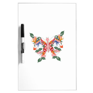 Mariposa tropical tableros blancos