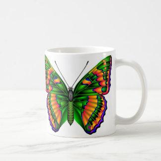 Mariposa tropical taza