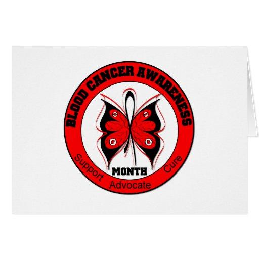 Mariposa v2 del mes de la conciencia del cáncer de tarjeton