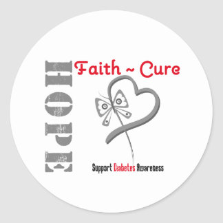 Mariposa v3 de la curación de fe de la esperanza pegatina redonda