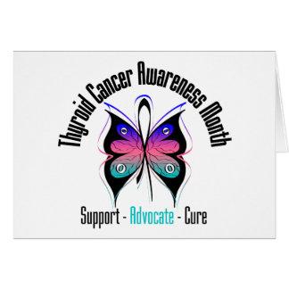 Mariposa v3 del mes de la conciencia del cáncer de tarjeta de felicitación