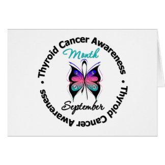Mariposa v4 del mes de la conciencia del cáncer de tarjeta de felicitación