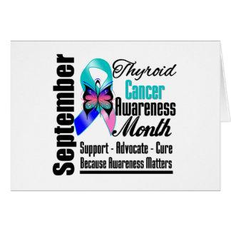 Mariposa v5 del mes de la conciencia del cáncer de tarjeta de felicitación