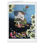 MARIPOSA V IDEAL (meditación sagrada del jardín) Tarjetas