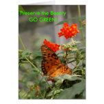 ¡Mariposa - VA el VERDE! Tarjeton